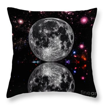 Moon River Throw Pillow by Naomi Burgess