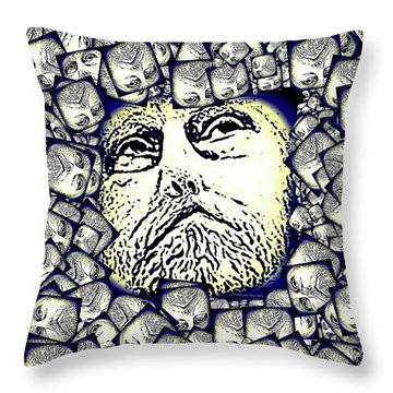 Moon Rocks Throw Pillow