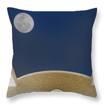 Throw Pillow featuring the photograph Moon Roof by Paul Wear