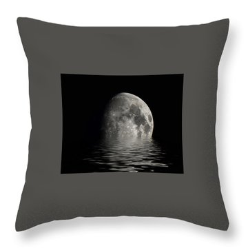 Moon Set... Throw Pillow