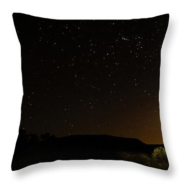 Moon Set Over Palm Valley Throw Pillow