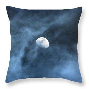 Moon Smoke Throw Pillow