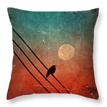 Moon Talk Throw Pillow by Tara Turner