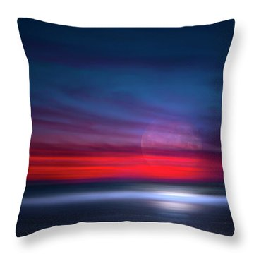 Moon Tide Throw Pillow