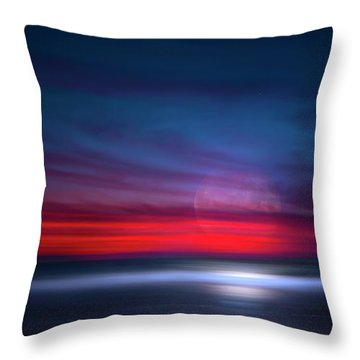 Moon Tide Throw Pillow by Mark Andrew Thomas