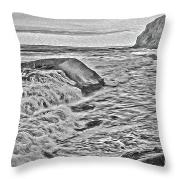 Moon Tides Throw Pillow