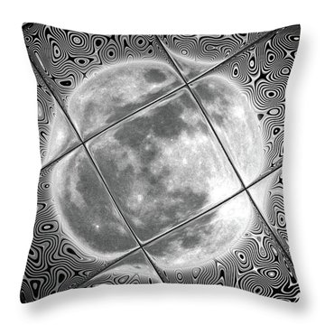 Moon Tile Reflection Throw Pillow by Stephen Younts