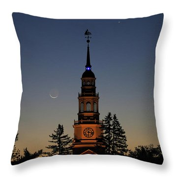 Moon, Venus, And Miller Tower Throw Pillow
