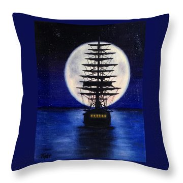 Moon Voyage Throw Pillow