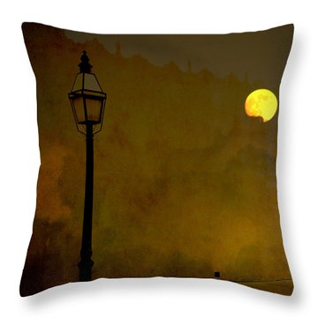 Moon Walker Throw Pillow