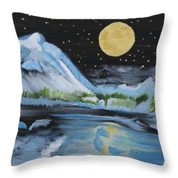 Moon Wishes Throw Pillow