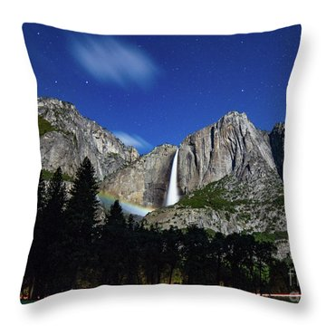 Moonbow And Louds  Throw Pillow