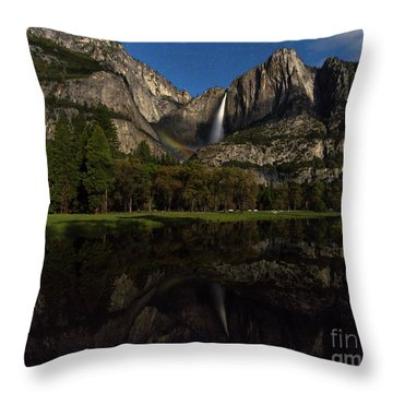 Moonbow Upper Falls Throw Pillow