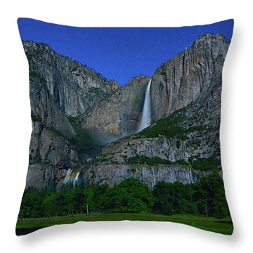 Moonbow Yosemite Falls Throw Pillow