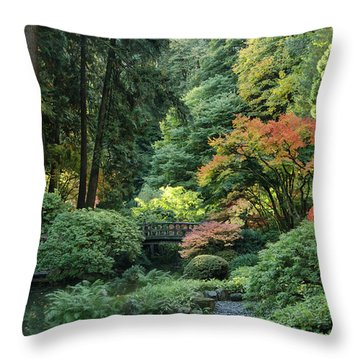 Moonbridge Autumn Serenade Throw Pillow