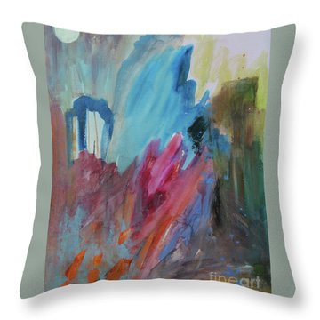 Throw Pillow featuring the painting Moonchaser by Robin Maria Pedrero
