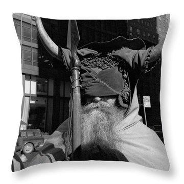 Moondog Nyc Tom Wurl Throw Pillow by Tom Wurl
