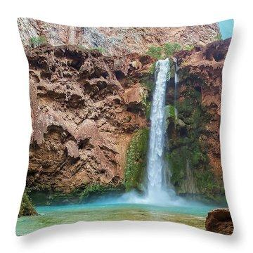 Mooney Falls Grand Canyon Throw Pillow
