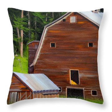 Mooney's Barn Throw Pillow
