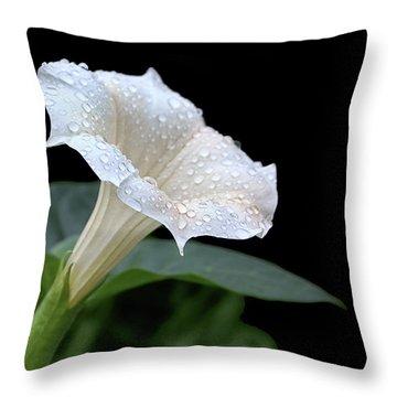 Moonflower - Rain Drops Throw Pillow