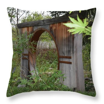 Moongate Throw Pillow