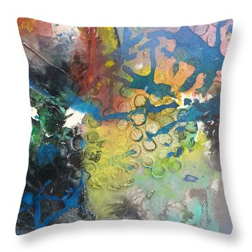Moonglow Throw Pillow by Becky Chappell
