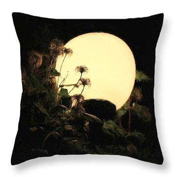 Moonglow Thistles Throw Pillow