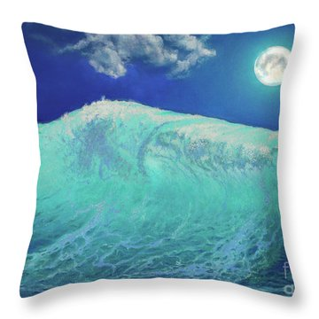 Moonlight At Sea Throw Pillow