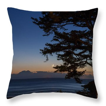 Moonlight At The Beach Throw Pillow