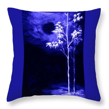 Moonlight Bamboo Throw Pillow by Lanjee Chee
