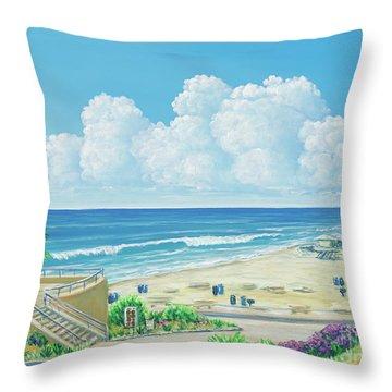 Moonlight Beach Throw Pillow