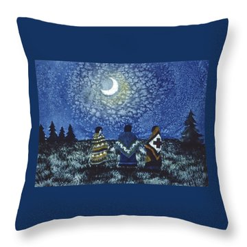 Moonlight Counsel Throw Pillow