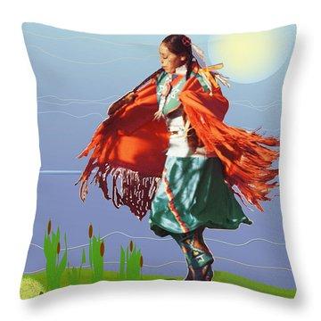 Moonlight Dance Throw Pillow by Kae Cheatham