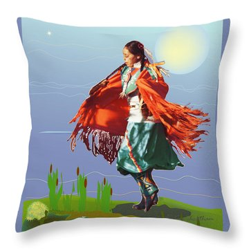 Moonlight Dance Throw Pillow