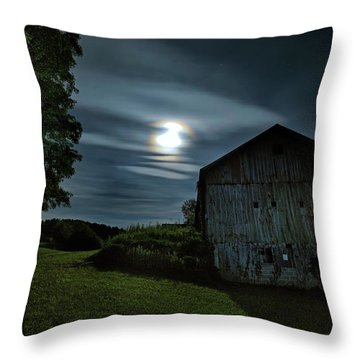 Moonlight Farm No. 2 Throw Pillow