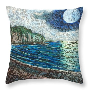 Moonlight In Pourvill Throw Pillow