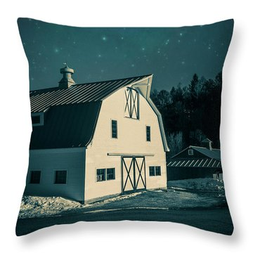 Throw Pillow featuring the photograph Moonlight In Vermont by Edward Fielding