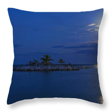 Moonlight Island Throw Pillow