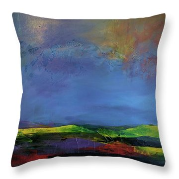 Throw Pillow featuring the painting Storm Brewing by Jillian Goldberg
