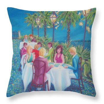 Moonlight Menus Throw Pillow