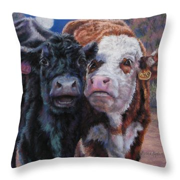 Moonlight Mooraoke Throw Pillow