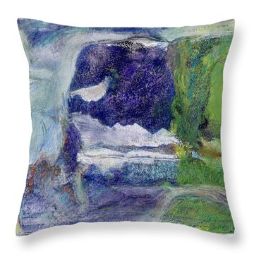 Moonlight Mountain Throw Pillow