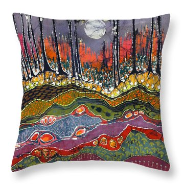 Moonlight Over Spring Throw Pillow