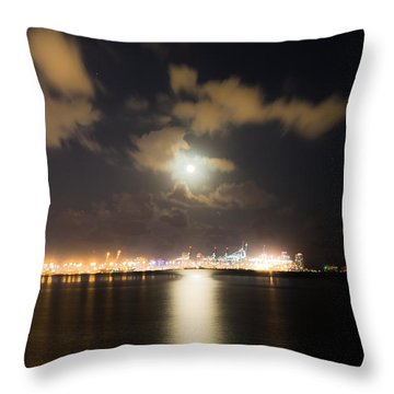 Moonlight Reflections Throw Pillow