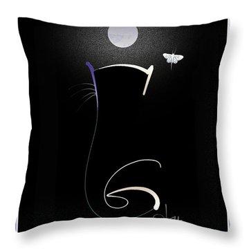 Moonlight Rendezvous 3 Throw Pillow