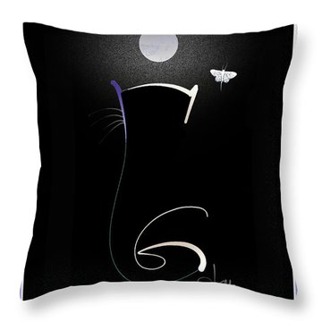 Throw Pillow featuring the mixed media Moonlight Rendezvous 3 by Larry Talley
