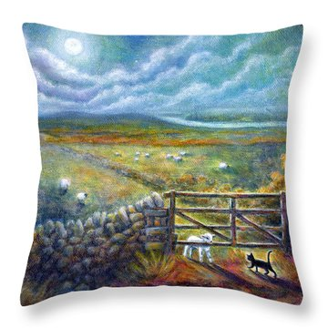 Moonlight Rendezvous Throw Pillow by Retta Stephenson