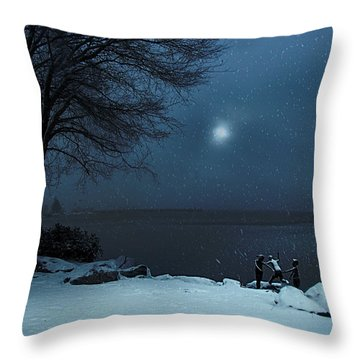 Moonlight Romp Throw Pillow