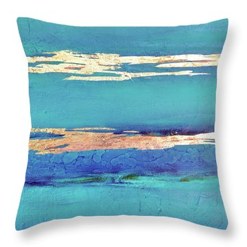 Moonlight Sea Throw Pillow by Filomena Booth