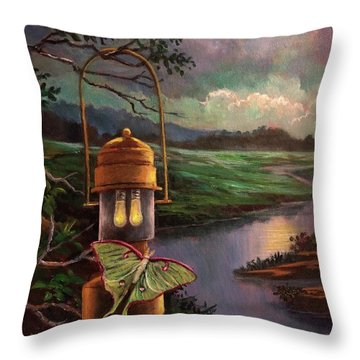 Moonlight, Silhouettes And Shadows Throw Pillow